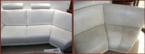 ניקוי ספות עור לפני ואחרי
